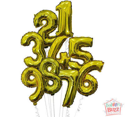 Your Choice of Helium-Filled 40-inch Gold Foil Numbers