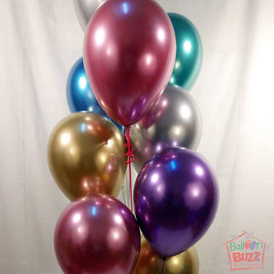 Your Choice of Helium-Filled Chrome Colored Balloons