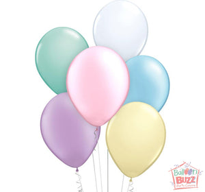 Your Choice of Helium-Filled Pastel-Matte Colored Balloons