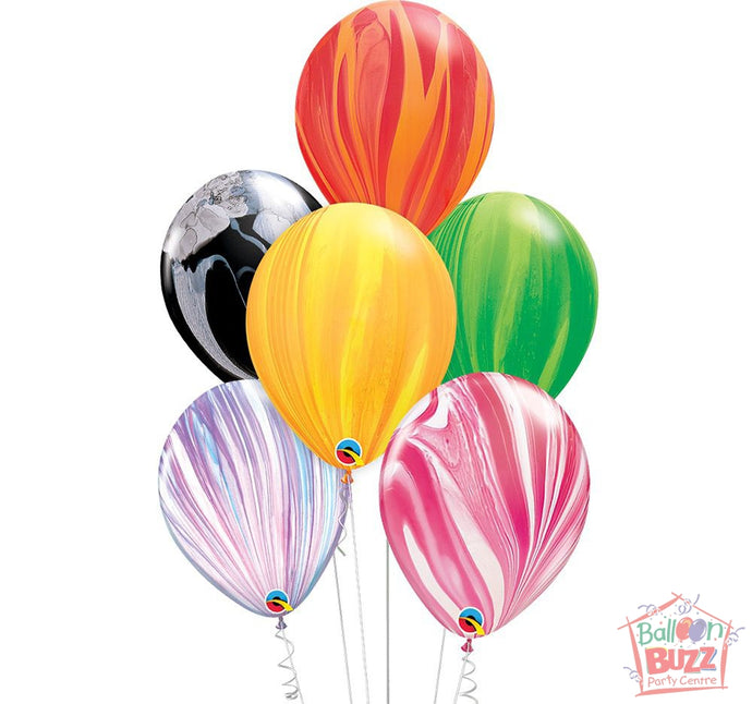 Your Choice of Helium-Filled Superagate Colored Balloons