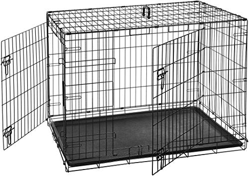42 in. Double-Door Folding Metal Dog Crate