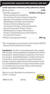 Vetri Mega Probiotic, Digestive Support for Dogs and Cats, 120 Capsules