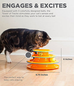 Petstages Tower of Tracks Ball and Track Interactive Toy for Cats