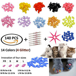 Kitty Soft Claw Covers - 140 pcs