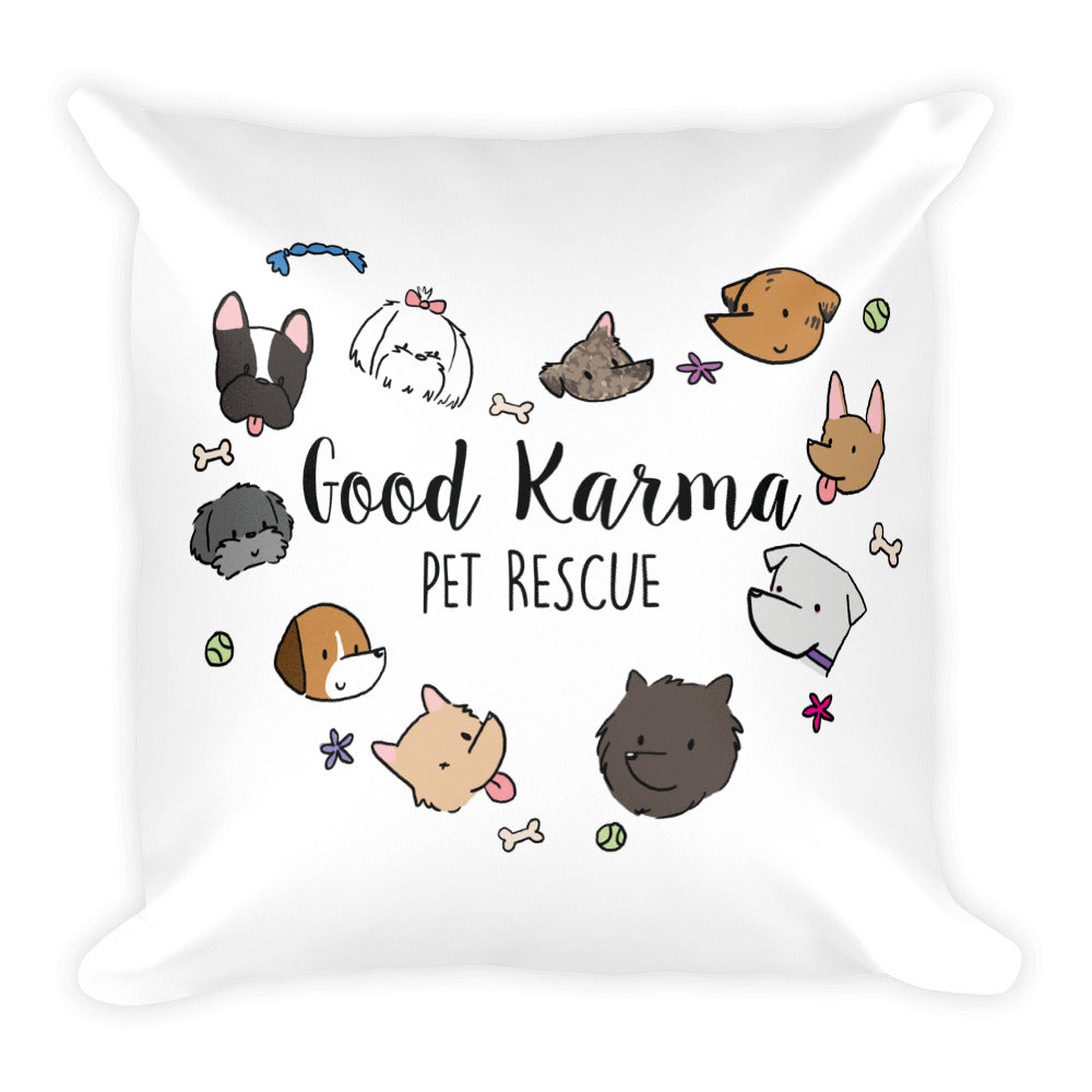 Double-Sided Pillow ~ Dogs & Cats