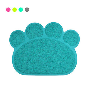 Paw-shaped Pet Feeding Mat for Dogs & Cats ~ Adorable colors!