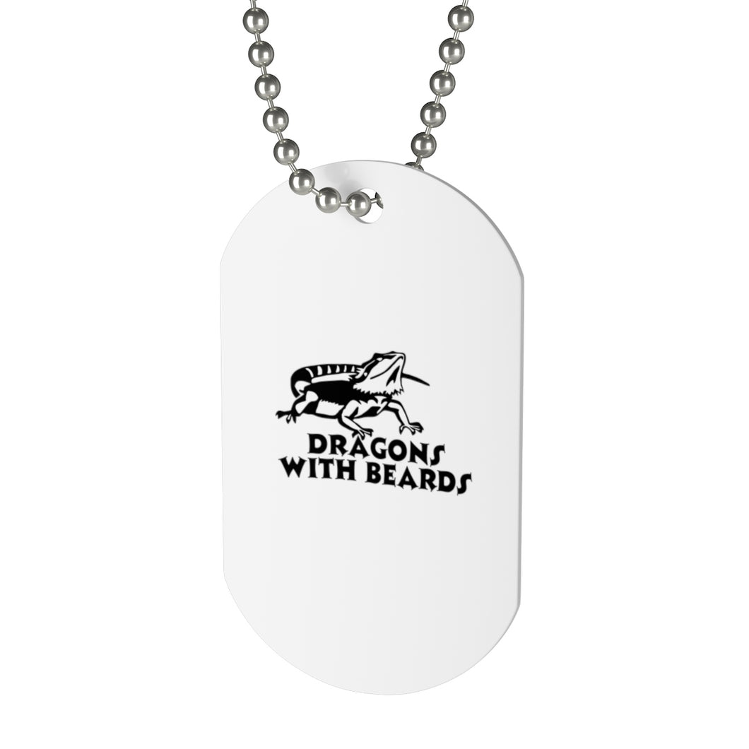 Dragons With Beards Dog Tag