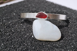 Seaglass Cuff- Red