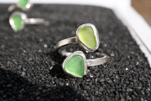 Double Wrap Seaglass Ring