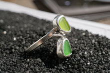 Load image into Gallery viewer, Double Wrap Seaglass Ring