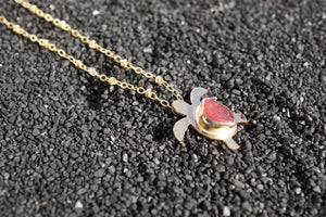 Seaglass Turtle Necklace