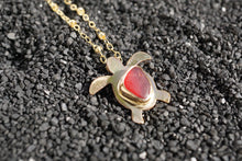 Load image into Gallery viewer, Seaglass Turtle Necklace