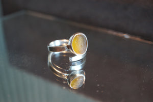 Yellow Swirl Ring