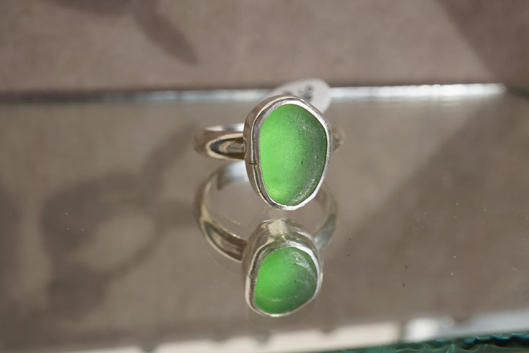 Thick Seaglass Ring