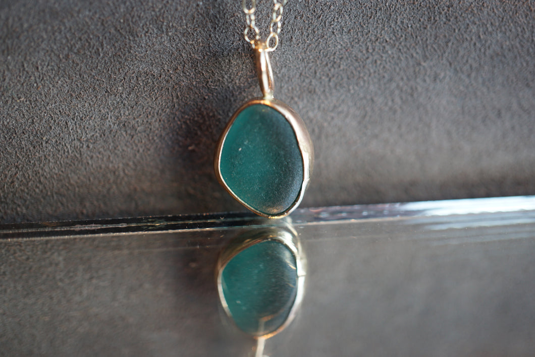Gold Seaglass Necklace