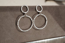 Load image into Gallery viewer, Double Circle Hammered Stud Earrings