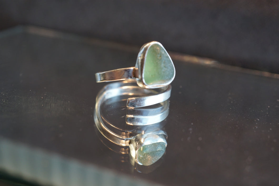 Green Swirl Ring