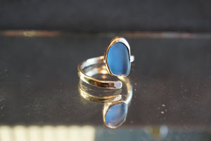 Cornflower Gold Swirl Ring