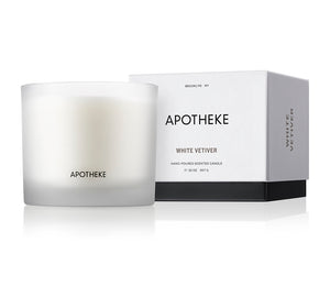 White Vetiver 3 Wick Candle