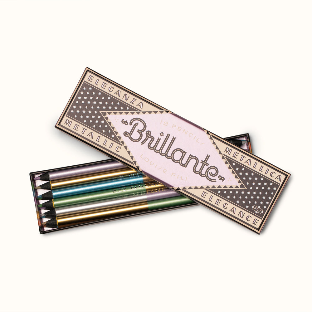 12 Brillante Metallic Color Pencils