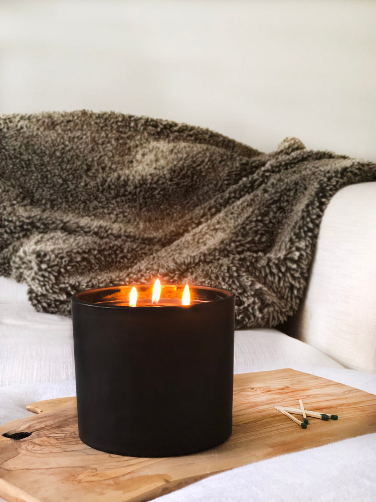 Charcoal 3 Wick Candle