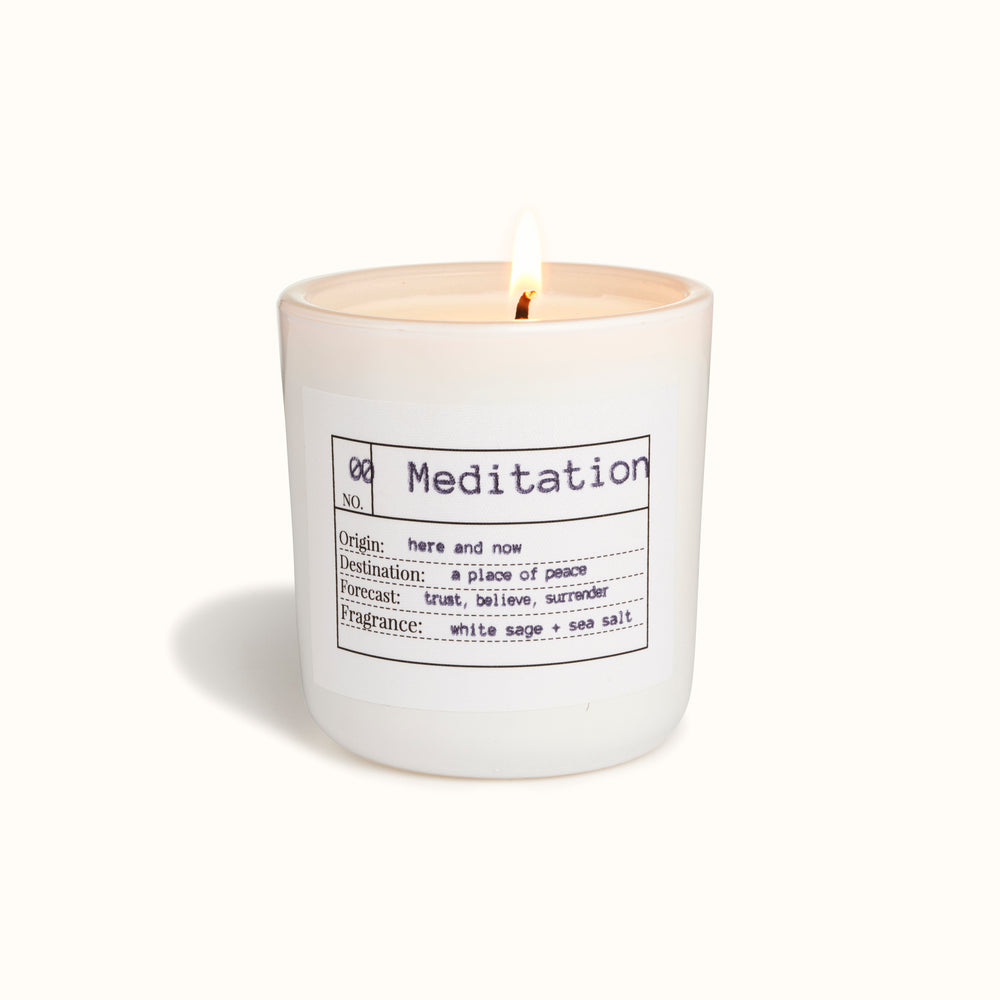 Meditation Candle Black