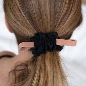 Black Washable Silk Scrunchie