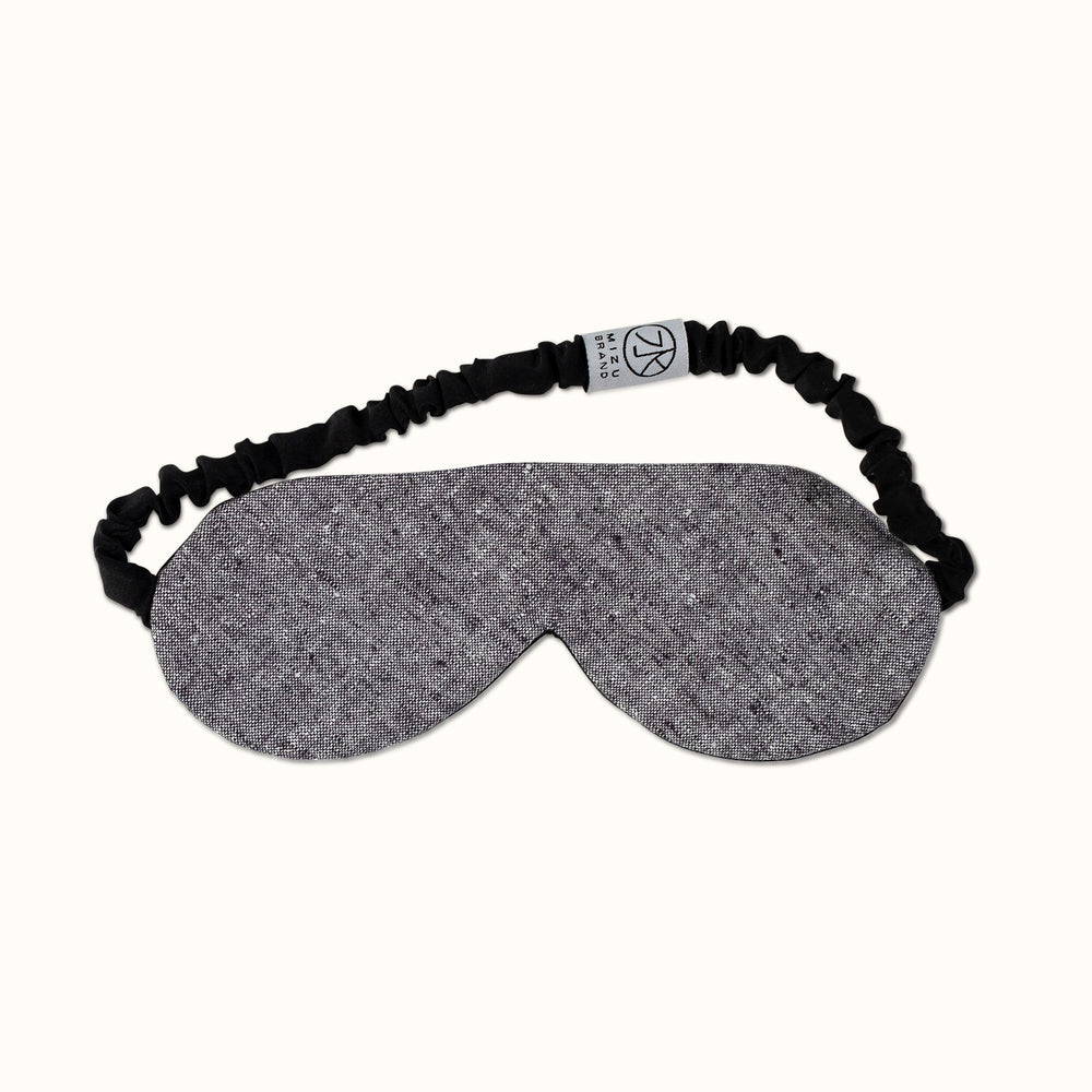 Black Chambray Silk Eye Mask