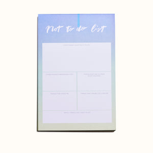 Not To Do List Notepad