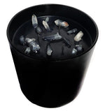Clear Quartz Candle Black XL