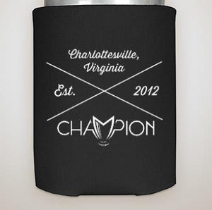 Champion X Logo Black Coozie