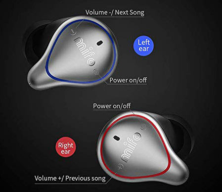 mifo o5 bluetooth 5.0 earphones mifo headphones wireless earbuds true wireless stereo earphones with charging case mifo O series buttons imartcity
