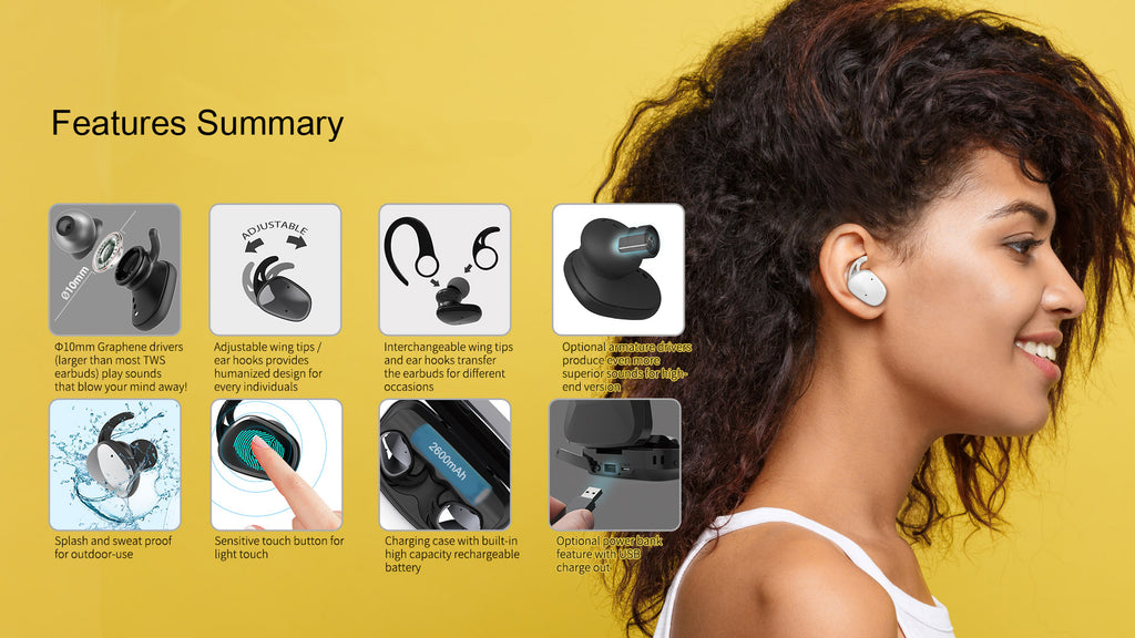 Lexuma best wireless earbuds best true wireless earbuds best wireless headphones bluetooth earbuds true wireless true wireless earbuds bluetooth earphones bluetooth headset best true wireless bluetooth earbuds sports wireless earphones sweatproof with charging case  feature summary