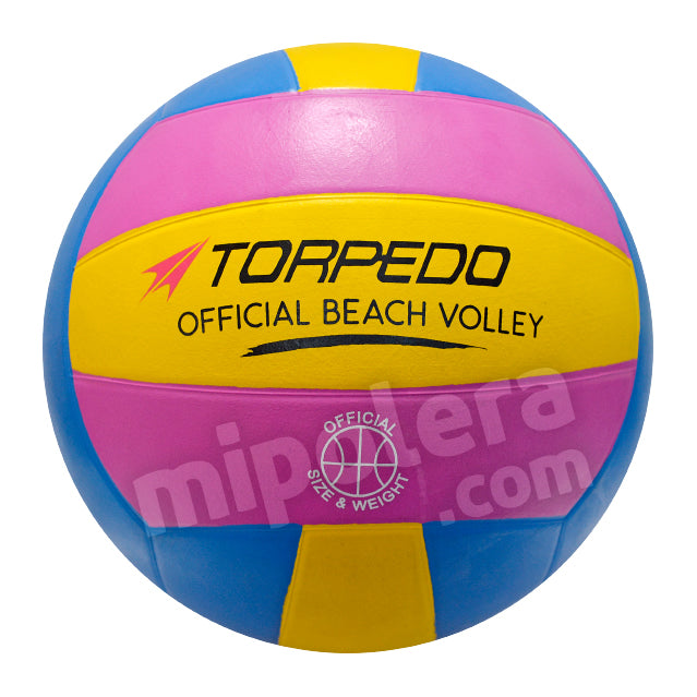 BALON VOLLEYBALL TORPEDO OFFICIAL BEACH GOMA AMAZFU 5