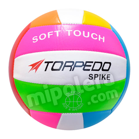 BALON VOLLEYBALL TORPEDO SOFT TOUCH SPIKE MULTICOLOR 5