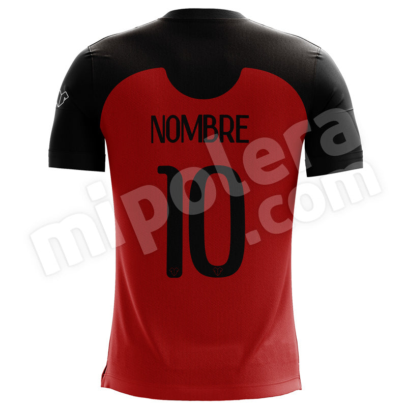 CAMISETA SHADOW NEGRO Y ROJO