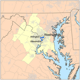 Map of Washington DC (DMV) Area credit: city-data.com