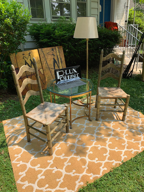 Rustic all wood Indoor/Outdoor chairs