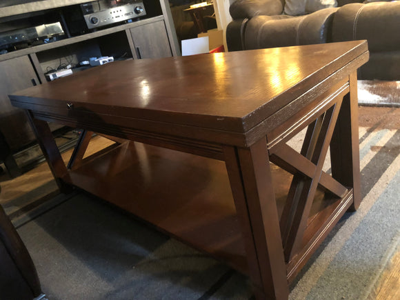 Coffee Table with expanding leaf