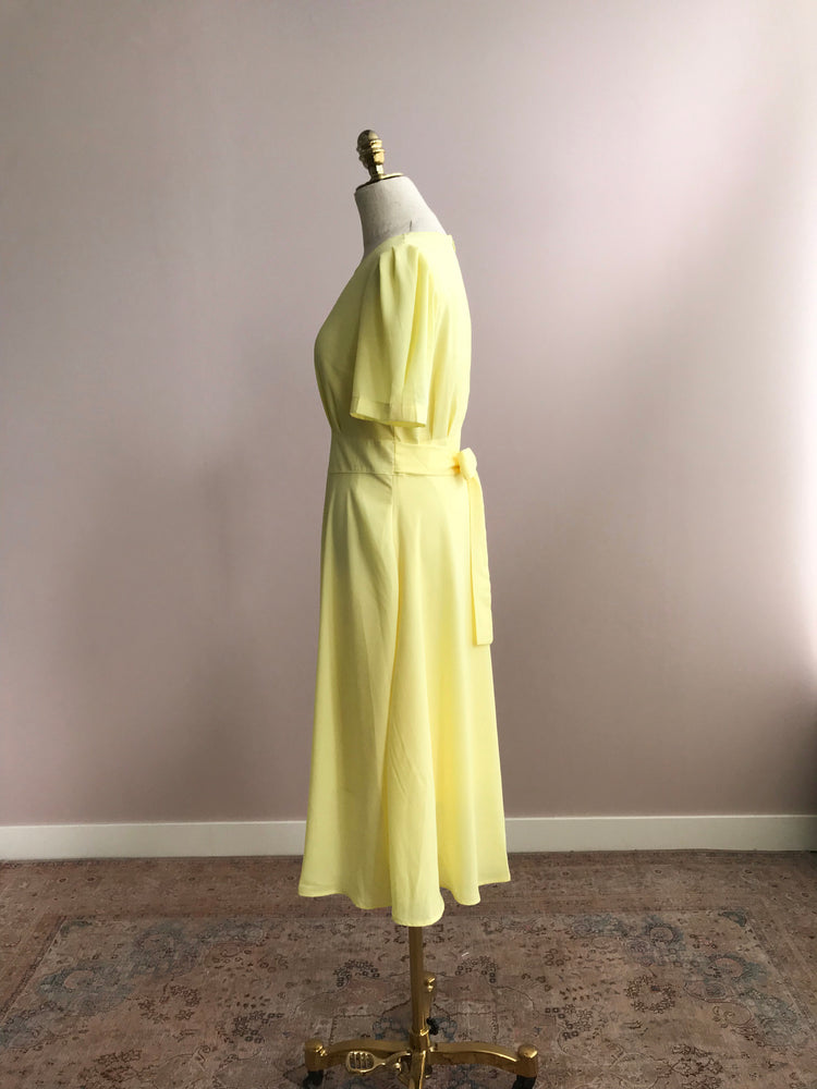 'HEATHER' silky maxi dress - yellow