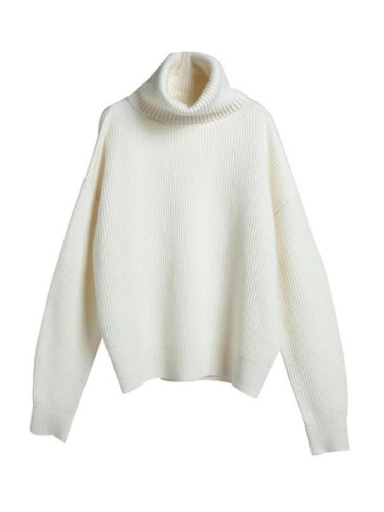 'CAMI' high-neck ribbed sweater - white