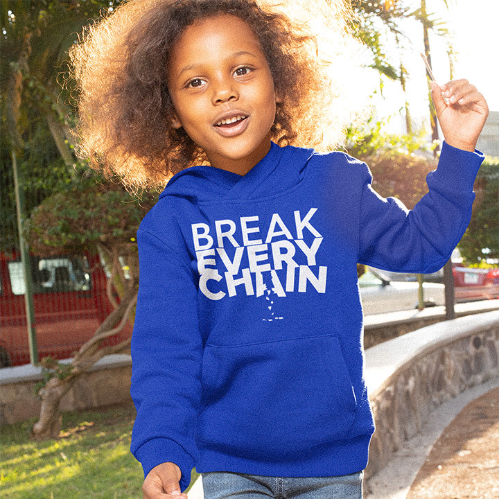 Break Every Chain Kids Hoodie - Authorytees