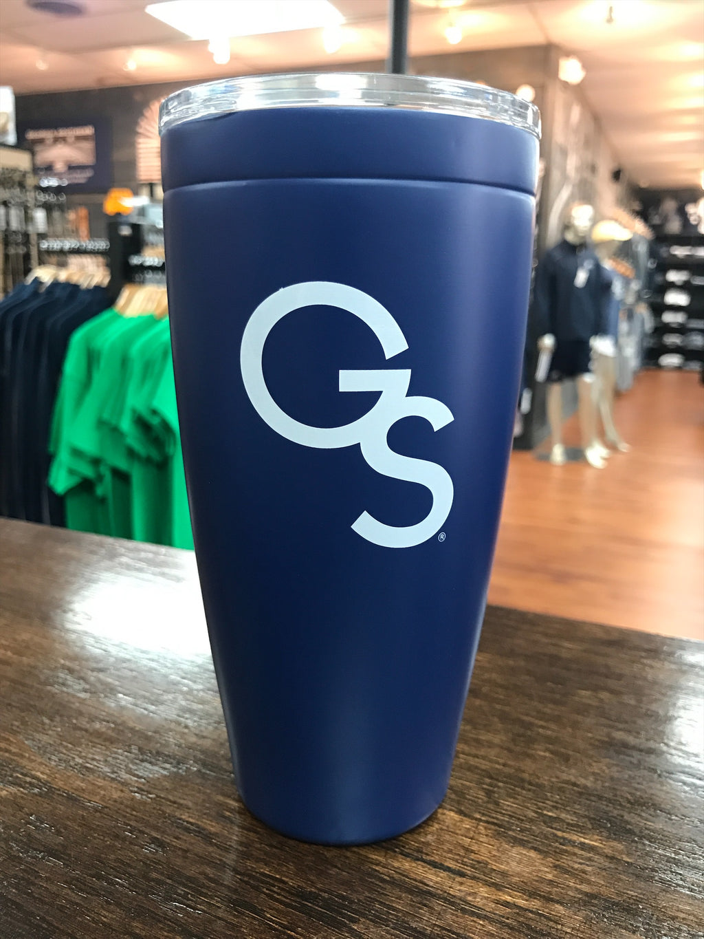 30oz Stainless Interlocking GS Blue Tumbler
