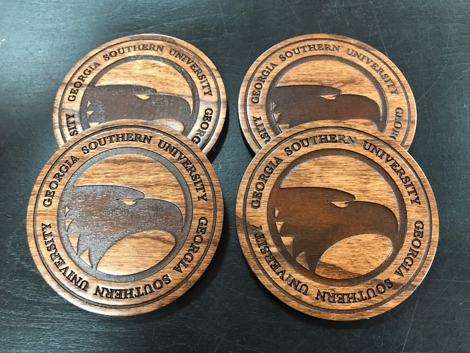 Academic Eagle Wooden Coasters Set