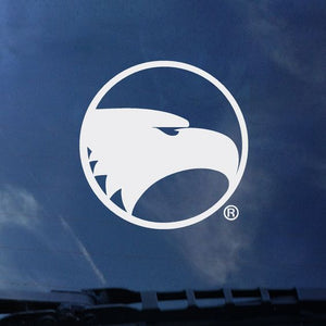White Academic Eagle Seal Decal Sticker - 3.25""