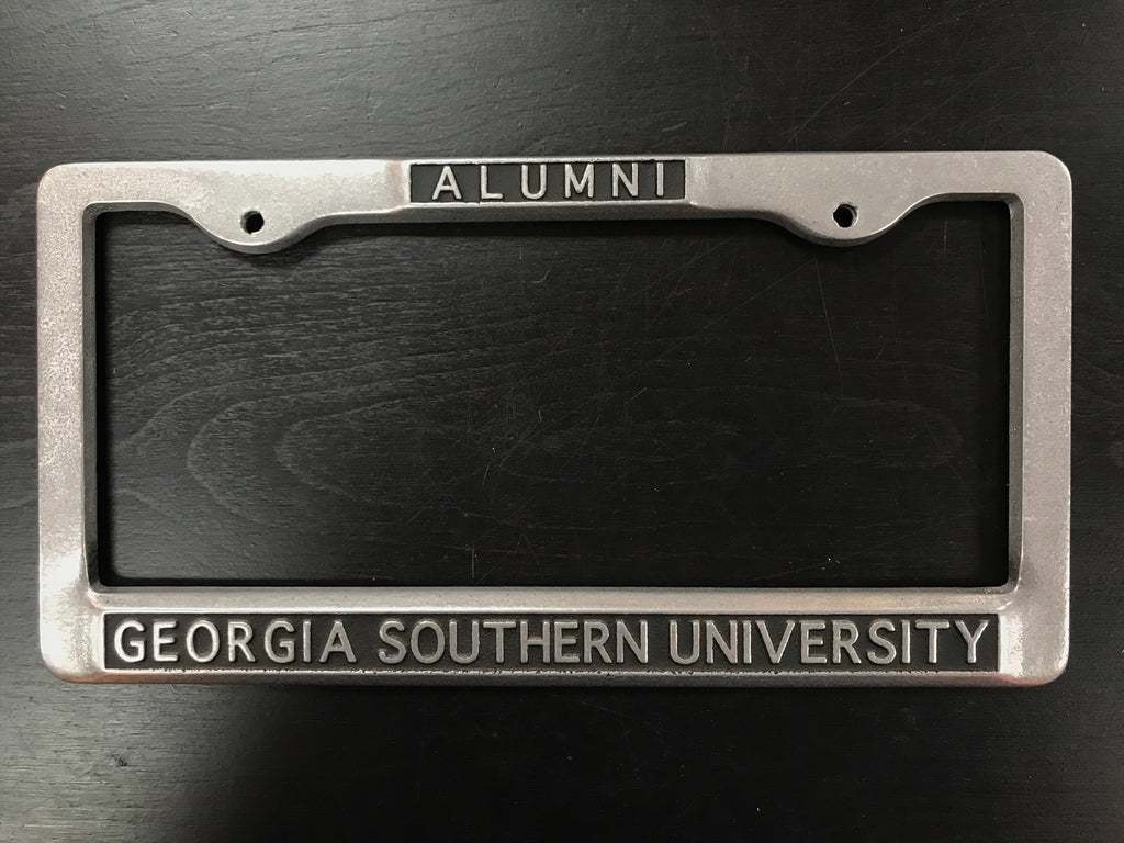 Heavy Duty Metal Alumni License Plate Frame - Top Mount