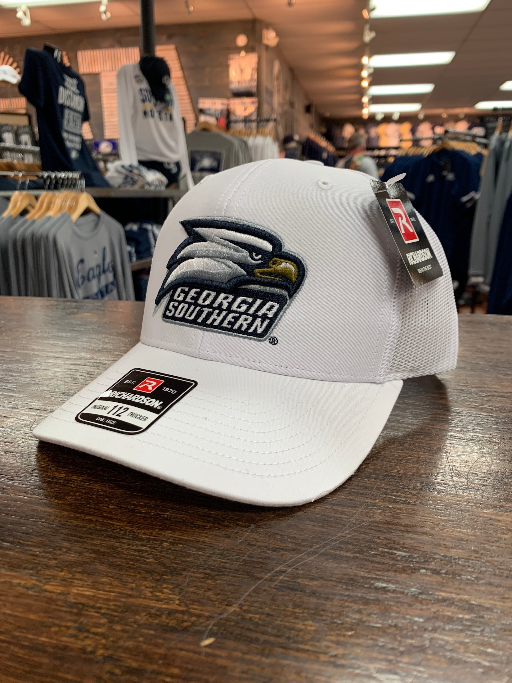 Richardson 112 - Athletic Eagle White Trucker