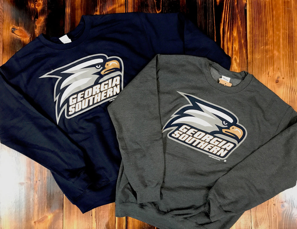Eagle Head Logo Crew Sweatshirts