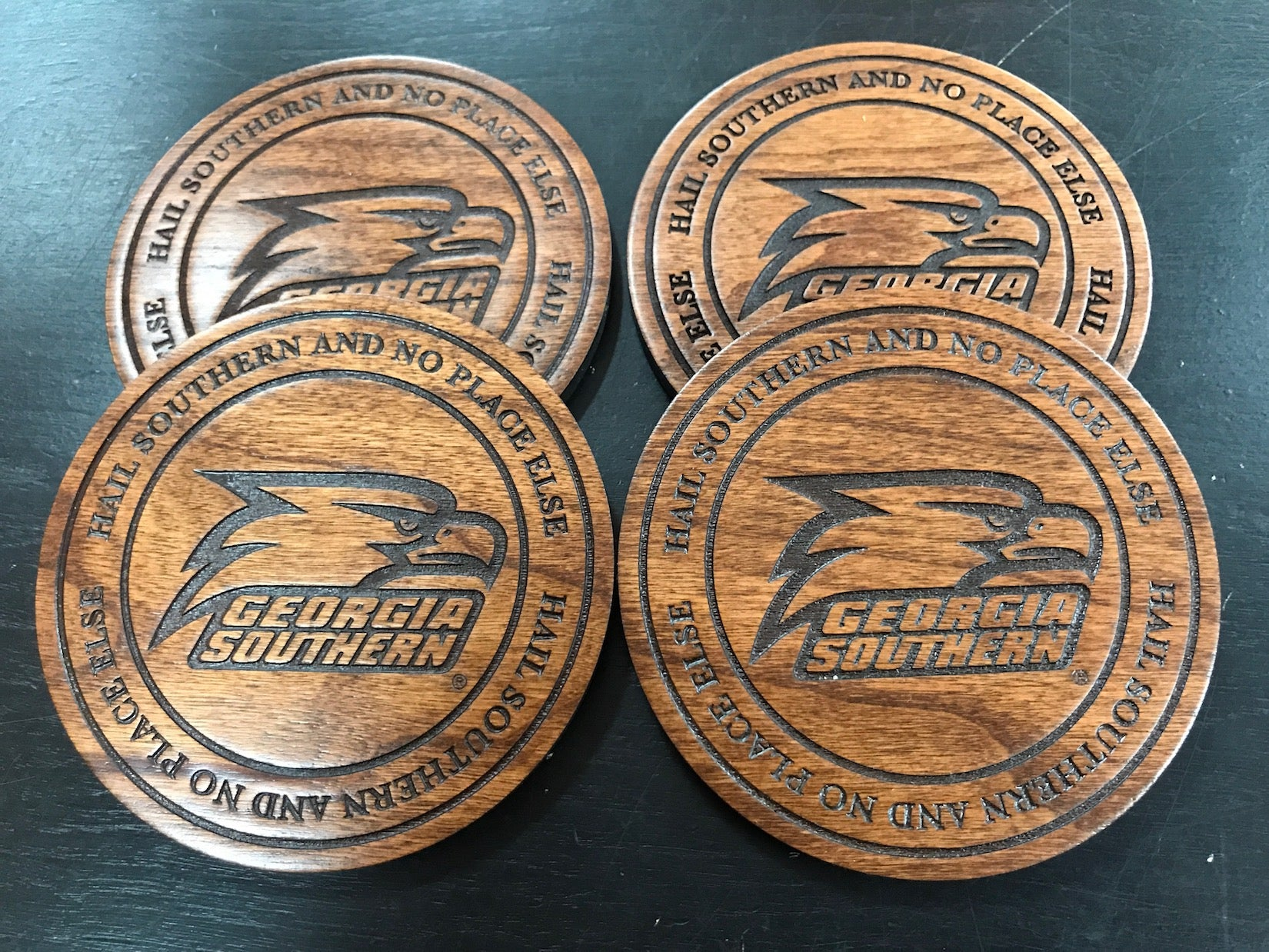 Athletic Eagle Wooden Coasters Set