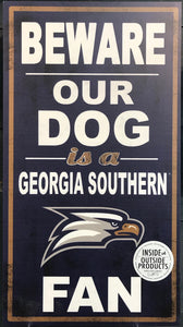 "Beware Our Dog Indoor/Outdoor Sign - 11"" x20"""